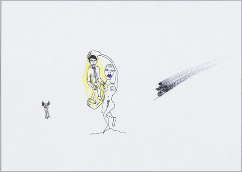 Gabriele Picco, Untitled, 2003. Felt-tip pen and ballpoint pen on paper. 8 1/4 x 11 1/2 in. Courtesy of The Judith Rothschild Foundation Contemporary Drawings Collection.